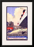 Paris-Havre-New York Framed Giclee Print by Albert Sebille