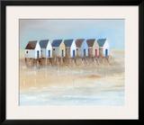 Beach Cabins I Print by Jean Jauneau
