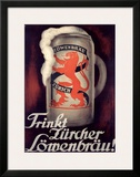Lowenbrau Framed Giclee Print by Otto Baumberger