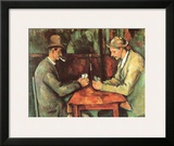 Card Players, c.1890 Art by Paul Cézanne