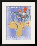 WWII, French Algerian Propaganda Framed Giclee Print