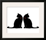 Two Black Cats Art