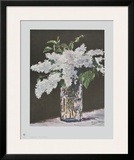 White Lilac in a Glass Vase Prints by Édouard Manet