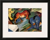 Red and Blue Horses Prints by Franz Marc