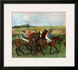 Jockeys at Training Posters by Edgar Degas