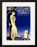 Nuit Elegance Framed Giclee Print by Emilio Vila