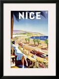 Nice, Riviera Beach Resort Framed Giclee Print by  D'hey