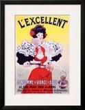 L'Excellent Framed Giclee Print by Constantin Meunier