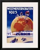 Weltmeisterschaften Bicycles Framed Giclee Print