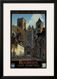 Bourges Framed Giclee Print by Constant Leon Duval