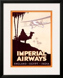 Imperial Airways, England-Egypt-India Framed Giclee Print by  Peckham