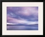 Fluid Sunset Framed Giclee Print by Derek Jecxz