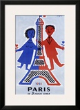 1951, Paris a 2.000 Ans Framed Giclee Print by Raymond Savignac