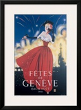 Fetes de Geneve Framed Giclee Print