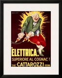 Elettrica Cattarozzi Cognac Framed Giclee Print by Achille Luciano Mauzan