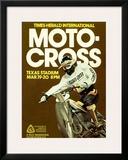 Times Herald Iternational Motocross Poster Framed Giclee Print