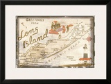 Greetings from Long Island Framed Giclee Print
