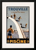 Trouville Framed Giclee Print by  Molusson