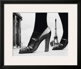 Shoes and Eiffel Tower, Paris, 1974 Poster by Frank Horvat