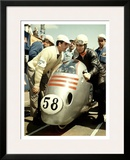 Italian Mv Agusta Gp Motorcycle Poster Framed Giclee Print by Giovanni Perrone