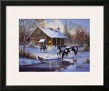 Winter Farm Art by M. Caroselli
