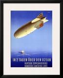 In 2 Tagen Uber Den Ozean Framed Giclee Print
