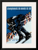 Chamonix World Championships Framed Giclee Print by  Constantin