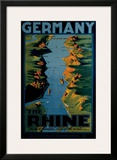 Germany, The Rhine Framed Giclee Print by Richard Friese