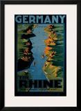 Germany, The Rhine Framed Giclee Print by Richard Friese
