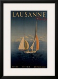 Lausanne Framed Giclee Print