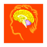 Brain Poster by Arqueveaux BSIP