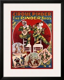 Cirque Pinder Framed Giclee Print by Louis Galice