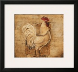 Rustic Farmhouse Rooster I Prints by Kimberly Poloson