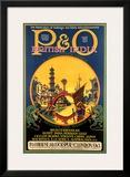 P&O Ocean Cruises Framed Giclee Print by Stanley Shuter