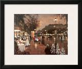 Evening Street Scene Art by Christa Kieffer