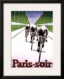Paris, Soir Framed Giclee Print by Abel Brunyer