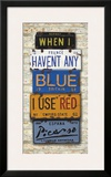 Picasso, Use Red Posters by Greg Constantine