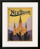 New Orleans: The Big Easy Framed Giclee Print by  Anderson Design Group