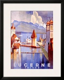 Lucerne Framed Giclee Print by Otto Baumberger