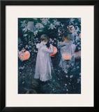 Carnation, Lily, Lily, Rose Framed Giclee Print by John Singer Sargent