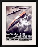 Luftschutz ist Selbstschutz Framed Giclee Print by Otto Baumberger