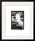Seating For Two Framed Giclee Print by Laura Denardo