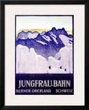 Jungfrau Bahn Framed Giclee Print by Emil Cardinaux