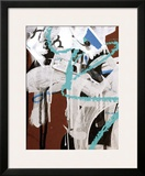 Aqua Tag II Framed Giclee Print by Jenny Kraft