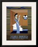 Pullman Framed Giclee Print by Pierre Fix-Masseau
