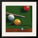 Billiards Poster by Bill Romero