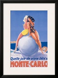 Monte Carlo Framed Giclee Print