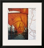 Project for the Gates, IV Prints by  Christo