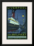 Liverpool and Belfast Framed Giclee Print by Kenneth Shoesmith