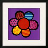 Flower Power III Prints by Romero Britto
